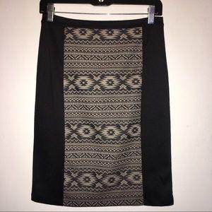 EZRA Black Knit Mini Skirt - Size Medium